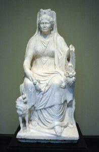 statua in marmo di Cibele