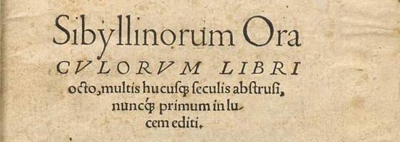 frontespizio oracoli sibillini edizione 1545