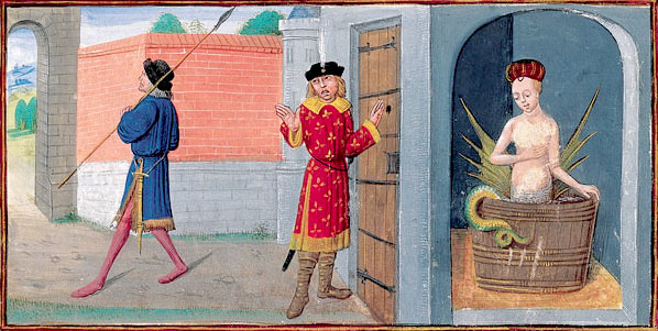 miniatura dal romanzo di melusina del 1450
